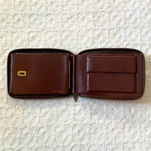 Leather vintage Prince Gardner bifold wallet